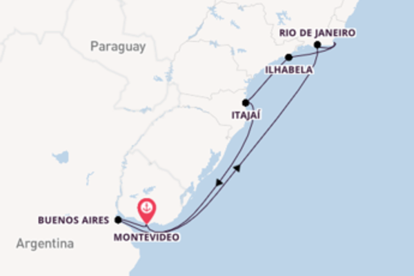 Journey with MSC Cruises from Montevideo