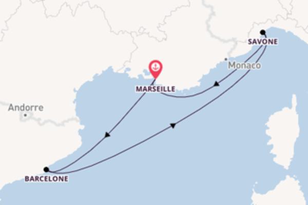 Barcelone et une agréable croisière depuis Marseille