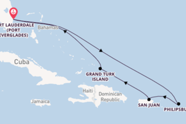 9 day cruise on board the Carnival Freedom  from Fort Lauderdale (Port Everglades)