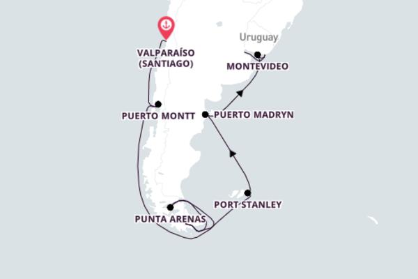 Iconic Ushuaia from Valparaíso 18-Day Journey