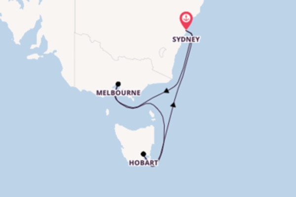 Trip with the Voyager of the Seas from Sydney