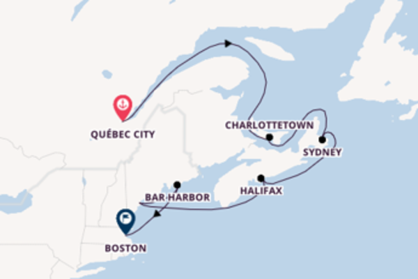 8 day voyage on board the Norwegian Gem from Québec City