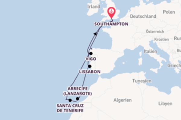 Herrliche Reise über Santa Cruz de La Palma in 17 Tagen