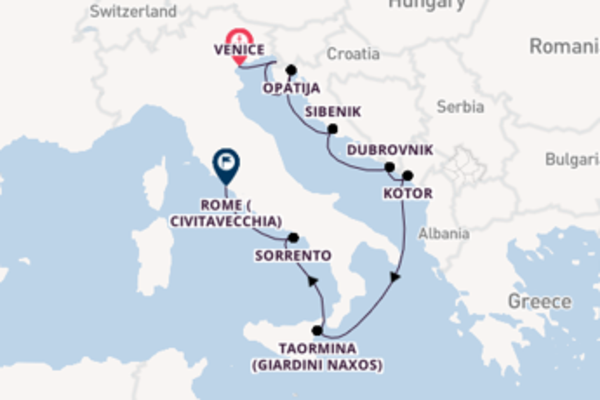 10 day journey from Venice