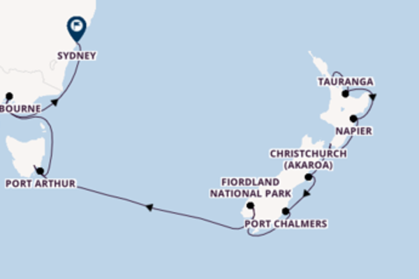 Sailing from Auckland to Sydney