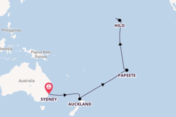 Da Sydney a Honolulu passando per Moorea in 20 giorni