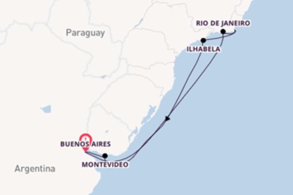 9 giorni di crociera fino a Buenos Aires