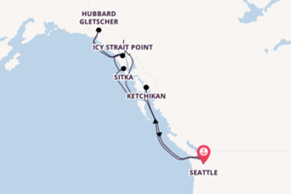 Erkunden Sie Hubbard Gletscher ab Seattle