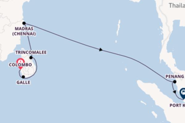 13 Tage Indischer Ozean Kreuzfahrt