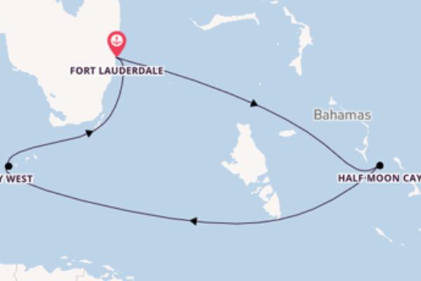Lasciati affascinare da Half Moon Cay arrivando a Fort Lauderdale
