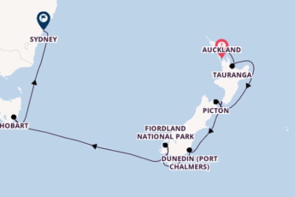 13 day voyage on board the Royal Princess from Auckland