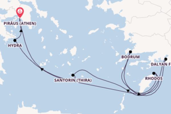 Spannende Reise über Rhodos in 8 Tagen