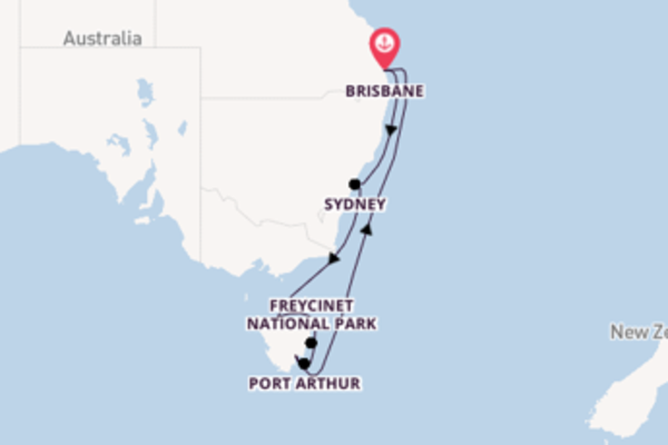 11 day cruise with the Coral Princess to Brisbane