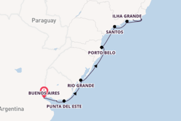 Expedition from Buenos Aires with the Seven Seas Mariner