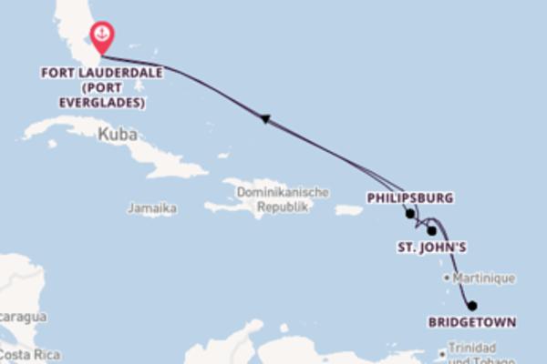 Von Fort Lauderdale (Port Everglades) über Basseterre in 10 Tagen