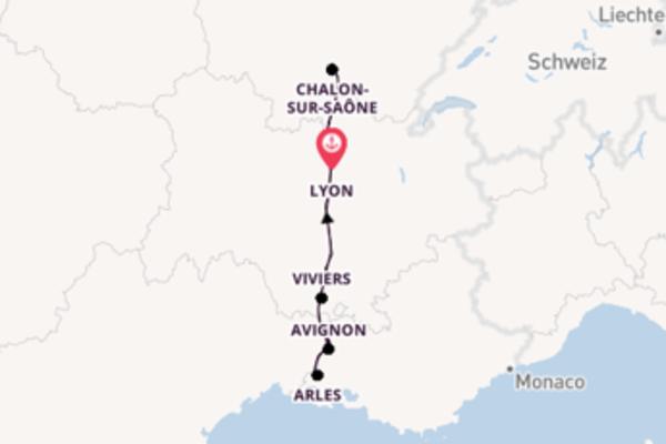8 Tage Rhône Kreuzfahrt