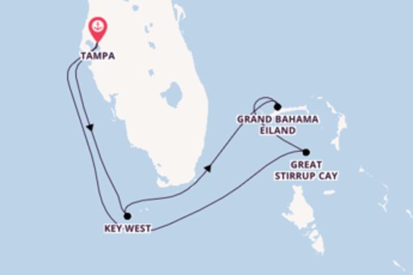 Maak een droomcruise naar Great Stirrup Cay