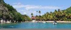 Azurblaues Meer in der Karibik