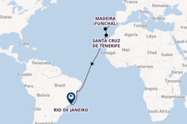 Trip with MSC Cruises from Lisbon