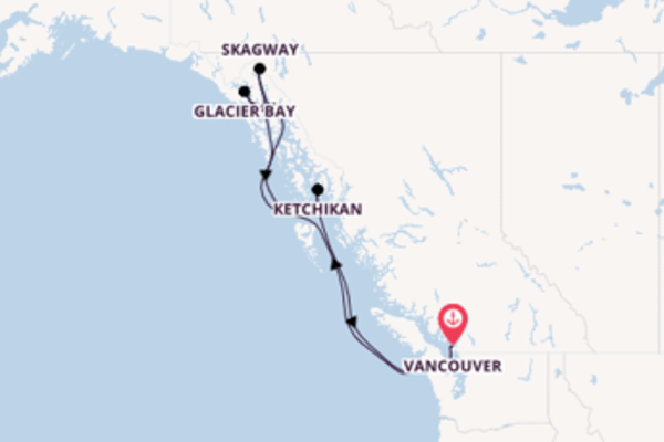 8 day trip on board the Zuiderdam from Vancouver