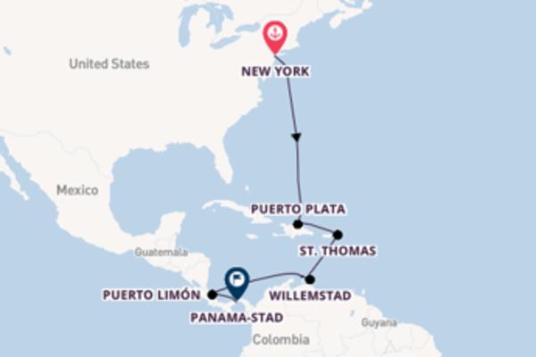 Ga mee op de Norwegian Jewel naar Panama-Stad
