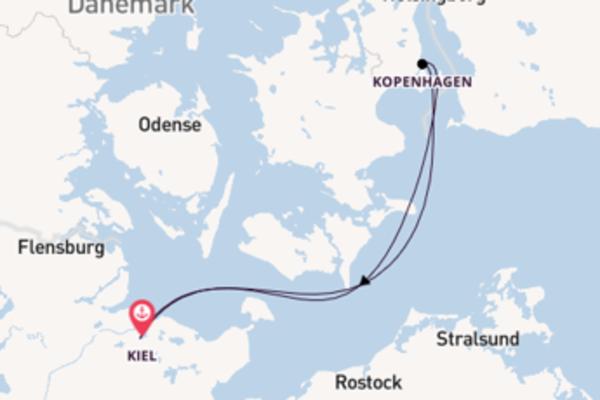 In 3 Tagen nach Kiel über Kopenhagen
