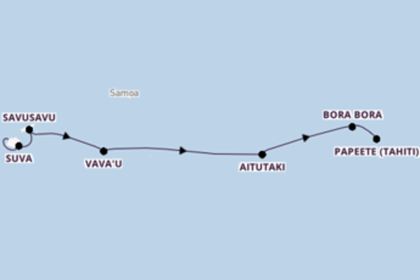 In 12 Tagen nach Papeete (Tahiti)