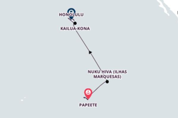 Fantástica viagem de 15 dias até Honolulu