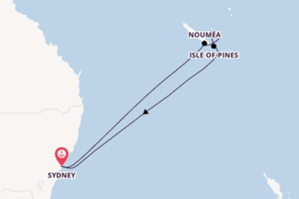 10 day cruise on board the Carnival Splendor from Sydney