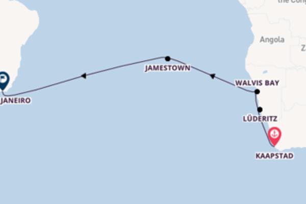 15-daagse reis aan boord van de Seven Seas Voyager