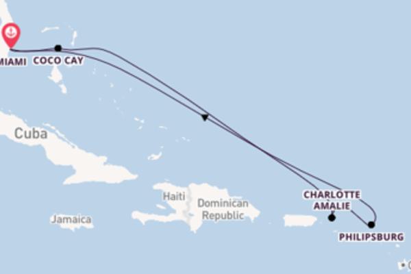 Scopri Coco Cay arrivando a Miami