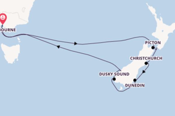 Visitez avec Celebrity Cruises, la destination: Christchurch