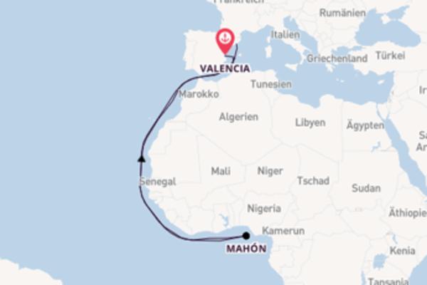 6-tägige Kreuzfahrt ab Valencia