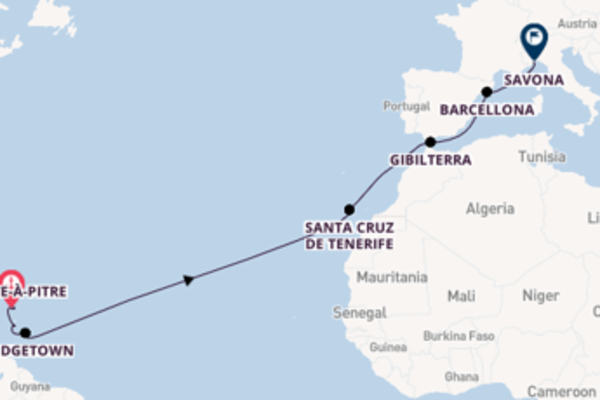Scopri Castries arrivando a Savona