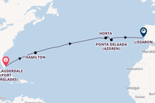 In 15 Tagen nach Lissabon über Hamilton