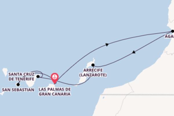 Großartige Kreuzfahrt über Agadir nach Las Palmas