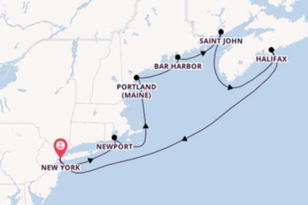 Fare rotta verso Saint John a bordo di Norwegian Escape