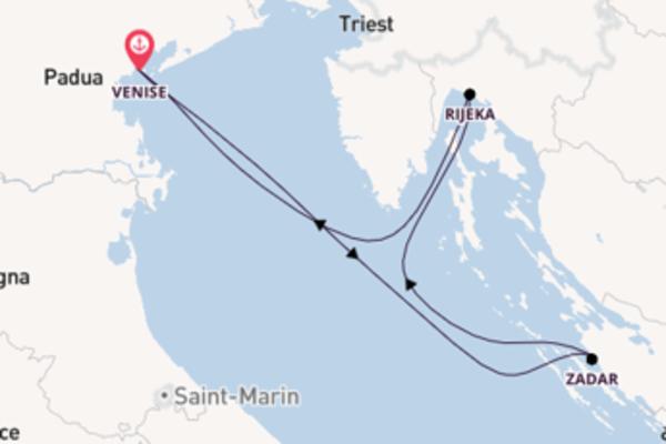 Zadar, depuis Venise à bord du bateau MSC Opera