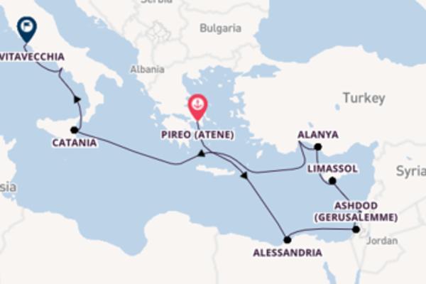 16 giorni di crociera da Atene (Pireo)