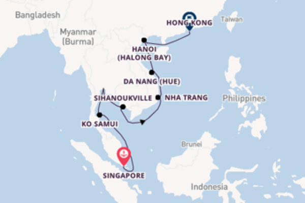 Trip from Singapore with the ms Noordam