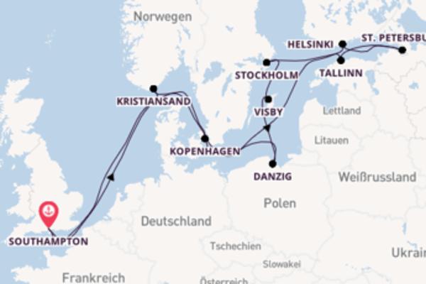 Entdecken Sie 15 Tage Visby und Southampton