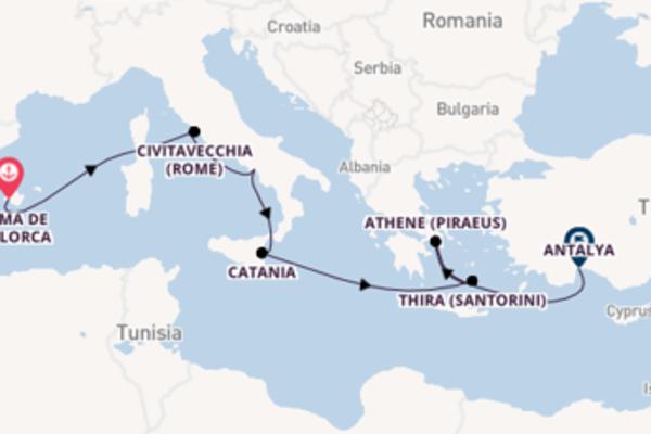 Vaar met de Mein Schiff 6 naar Antalya