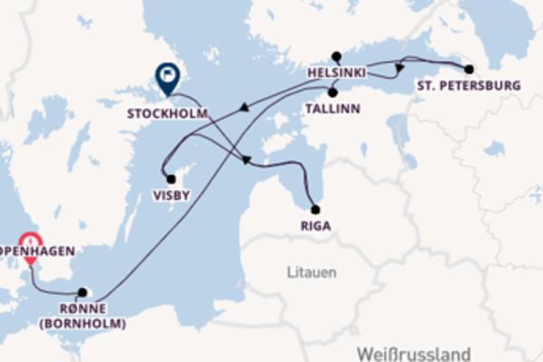 In 12 Tagen nach Stockholm über Helsinki