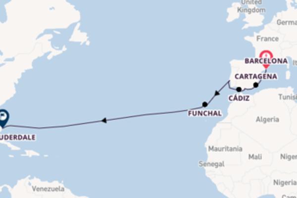 15-daagse cruise met de Westerdam vanuit Barcelona