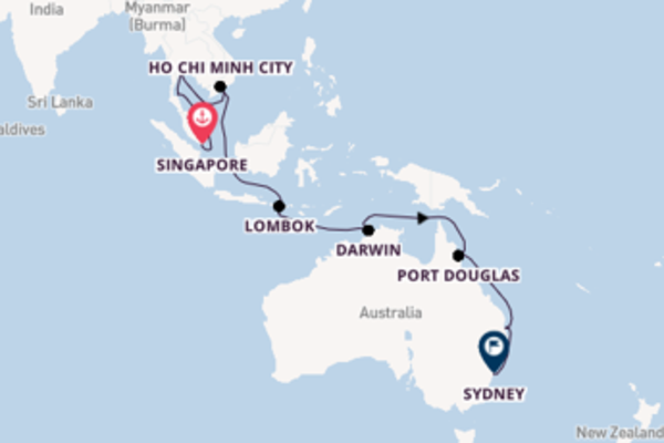 Magnificent Singapore to magnificent Sydney