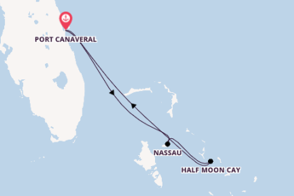 Dépaysante balade de 5 jours à bord du bateau Carnival Liberty