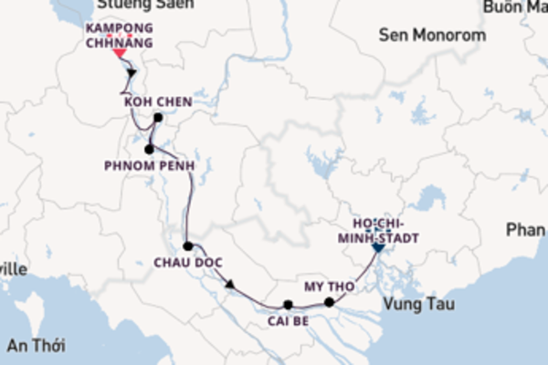 9-tägige Kreuzfahrt ab Kampong Chhnang