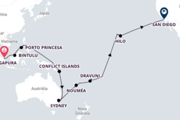 Navegue a bordo do Maasdam em 45 dias