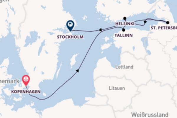 In 8 Tagen nach Stockholm über St. Petersburg