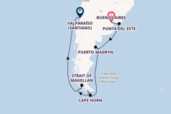 Cruising from Buenos Aires via Punta Arenas
